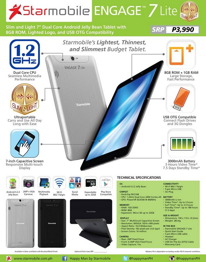 Starmobile Engage 7 Lite