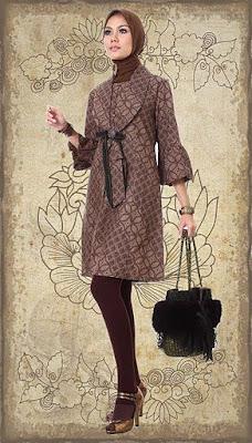 Model Baju Muslim Batik 4