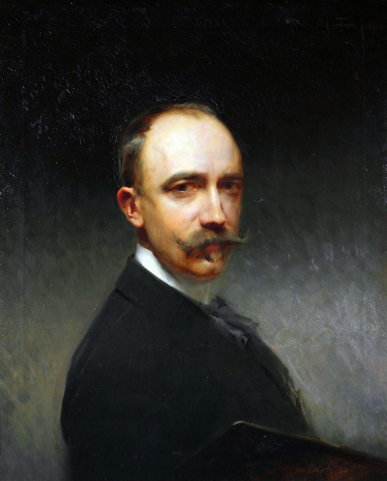 Modest Teixidor, Self Portrait, Portraits of Painters, Fine arts, Portraits of painters blog, Paintings of Modest Teixidor, Painter Modest Teixidor
