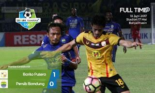 Barito Putera vs Persib Bandung 1-0. Maung Bandung ke Papan Bawah Lagi.