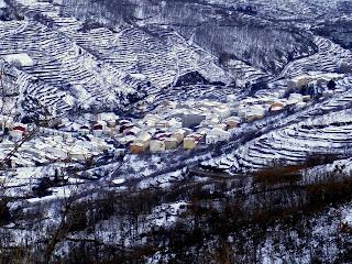 nieve en el valle del jerte