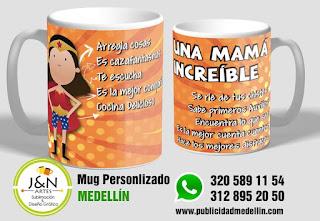 Mug perosnalizado en Medellin super mama