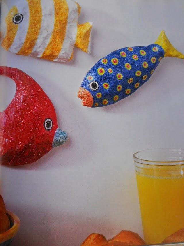 DIY Μαγνητάκια από Χαρτοπολτό