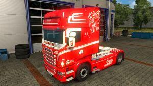 Danmark Star Skin for Scania RJL