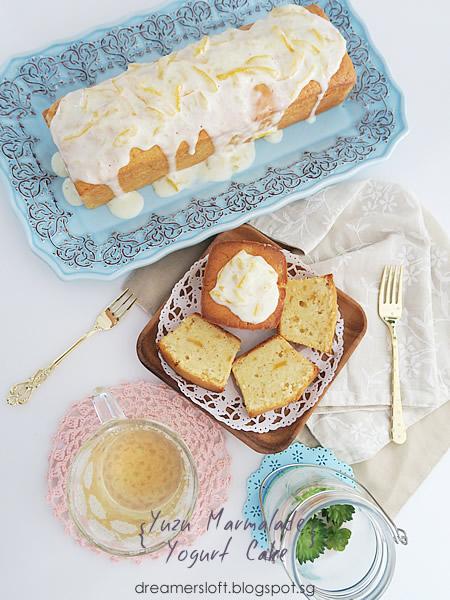 yogurt cake print recipe marmalade glazed yogurt cake yogurt marmalade ...