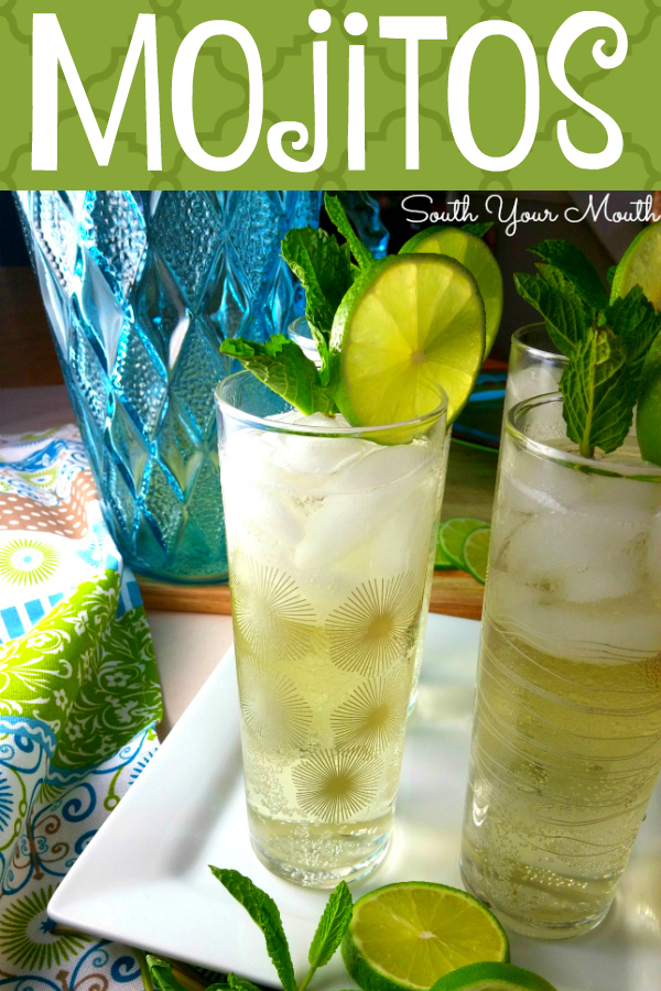The best mojito recipe EVER with an easy mint simple syrup, limes, rum or tequila and a little something to make it sparkle! #mojito #happyhour #cincodemayo #tequila #rum