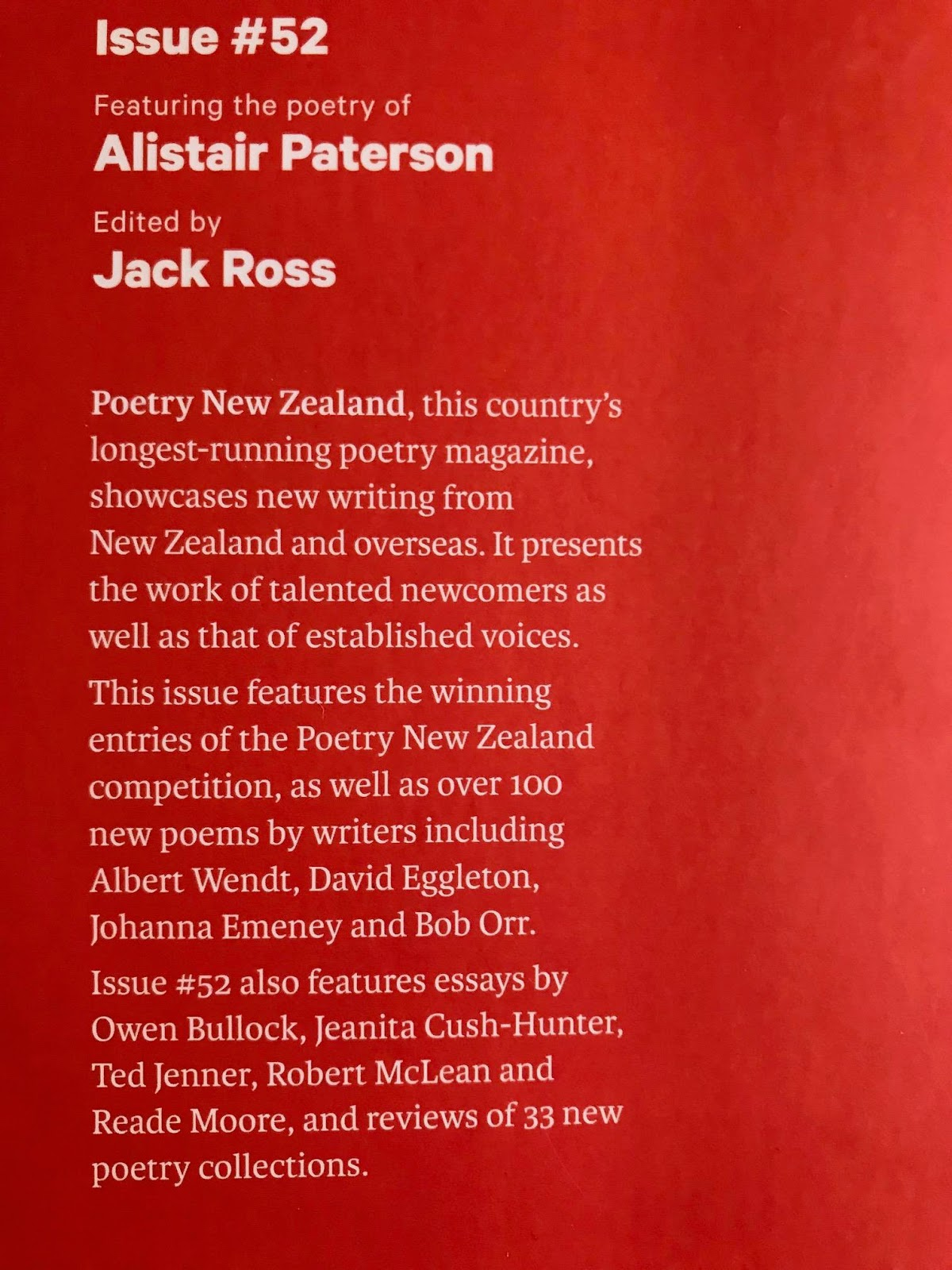 poetry blog poetry nz yearbook 2018