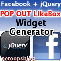 Facebook jQuery POP OUT likebox widget generator