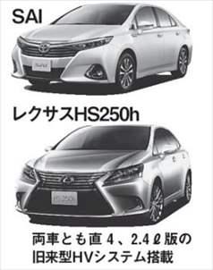 レクサス HS トヨタ SAI 比較