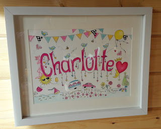 Charlotte watercolour name doodle by deborah dey
