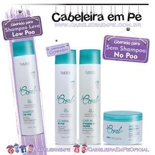 Linha Curl - Live Life (Shampoo liberado para Low Poo, Máscara, Cowash e Leave in liberados para No Poo)