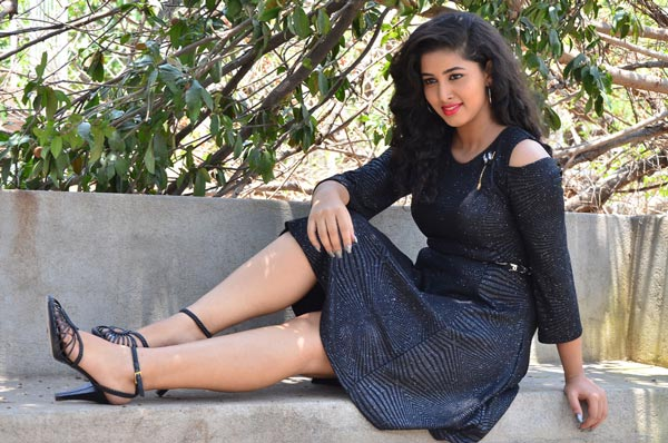 Actress Pavani In Black Suit Hot Stills