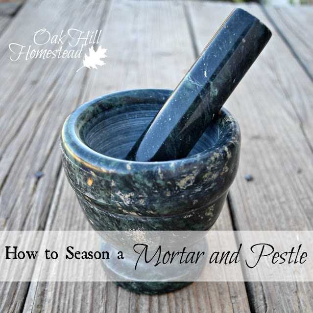 How to season a new mortar and pestle
