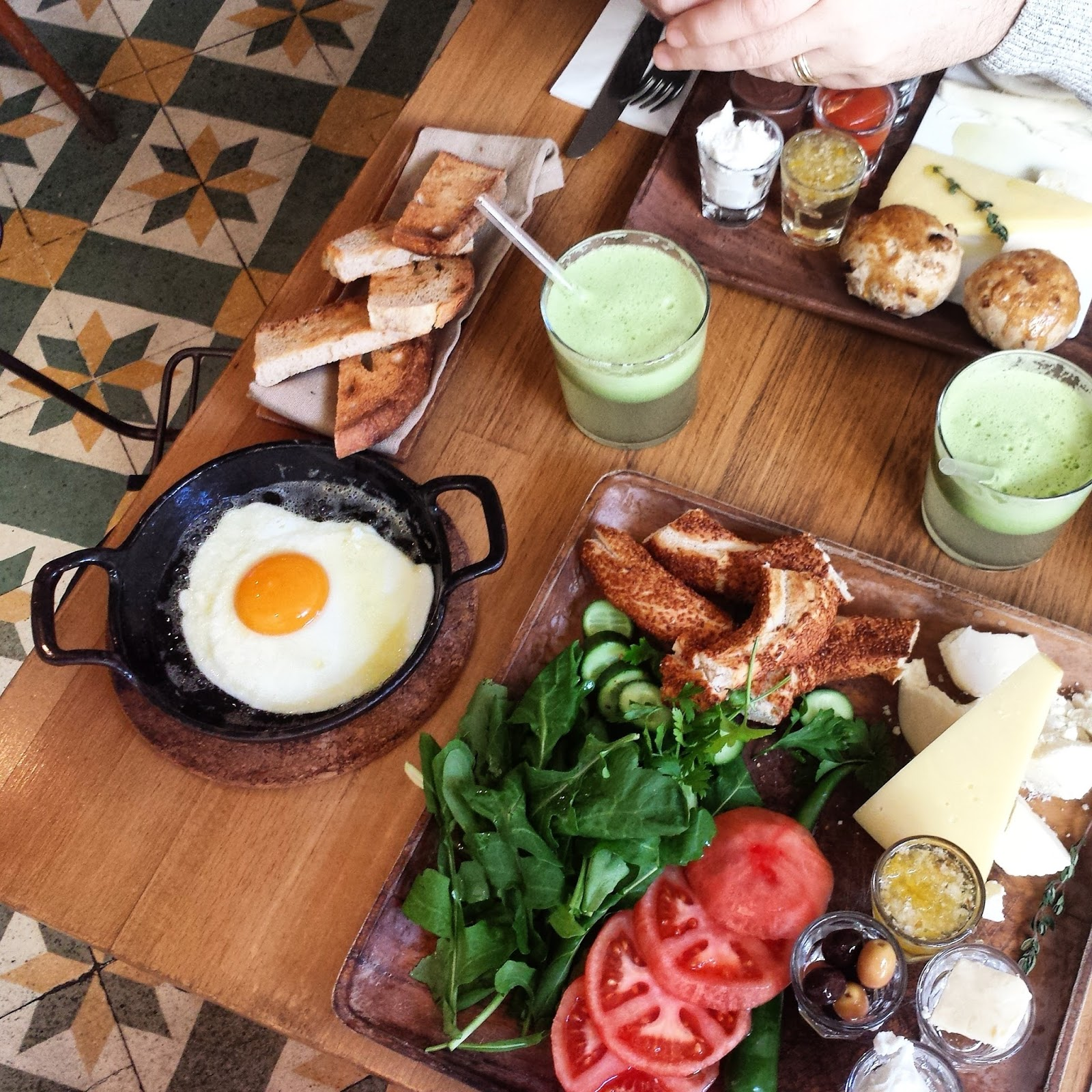 Traditional Turkish breakfast at Journey in Cihangir Istanbul  |  Postcard from Istanbul on afeathery*nest  | http://afeatherynest.com
