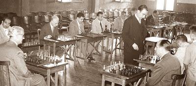 Simultáneas de ajedrez de Jaume Lladó en 1946