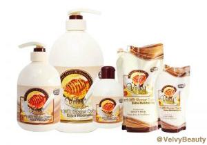 Rahasia kulit putih halus dan sehat dengan Velvy Goat's Milk Shower Cream Royal Jelly & Sun Flower