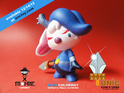 ESC Toy 2012 Holiday Releases: Kami x Sama Blue Resin Figure by Erick Scarecrow & Frombies