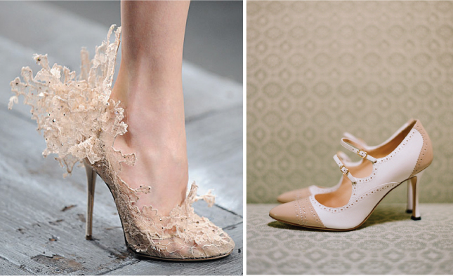 Wedding Trends} : Nude Wedding Shoes - Belle The Magazine