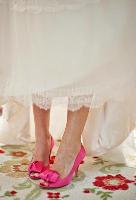 Pink Wedding Shoes & Pink Wedding Lingerie