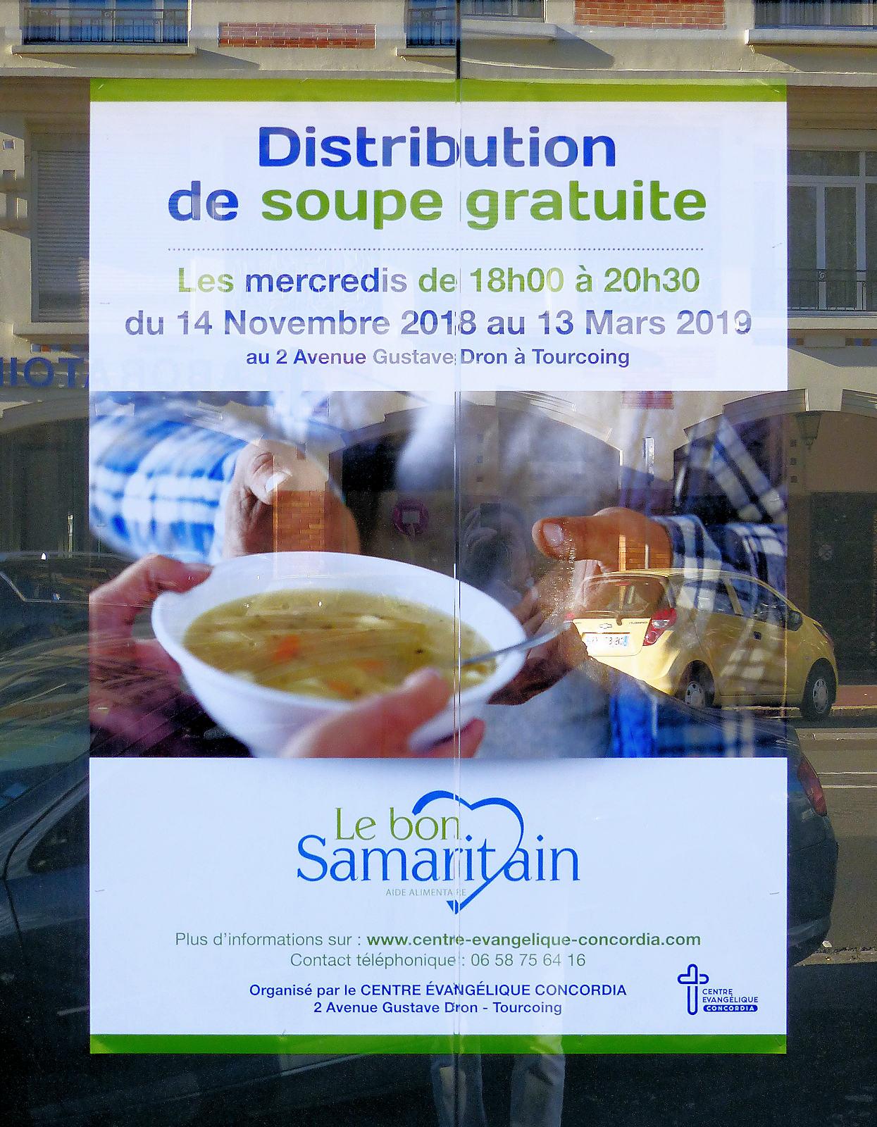 Le Bon Samaritain, soupe gratuite