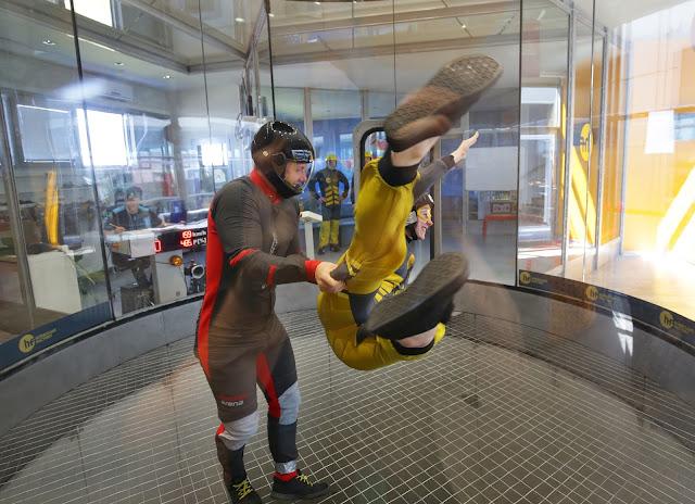 indoor skydiving, hurricane factory, letňany, Lucie Srbová