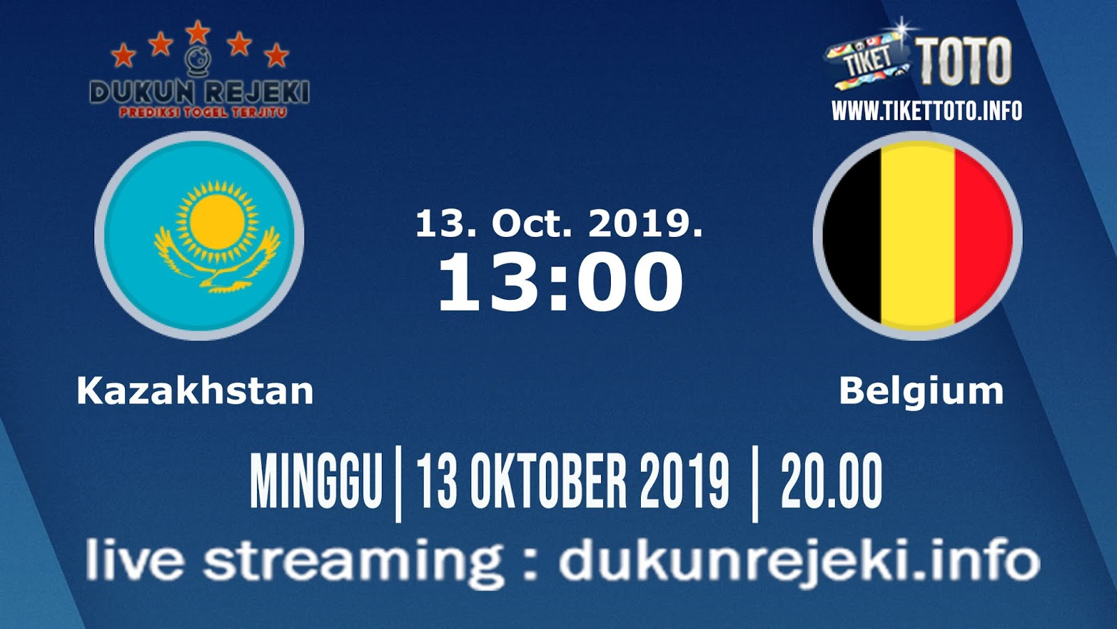 Prediksi EURO Qualification Kazakhstan Vs Belgia 13 Oktober 2019