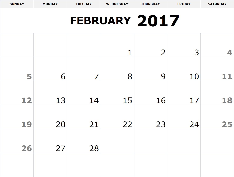 printable calendar 2017 pdf