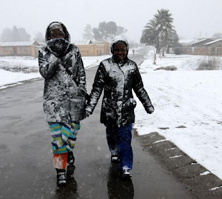 In the winter months of June, July and August, snowfall is common in in various towns in South Africa.