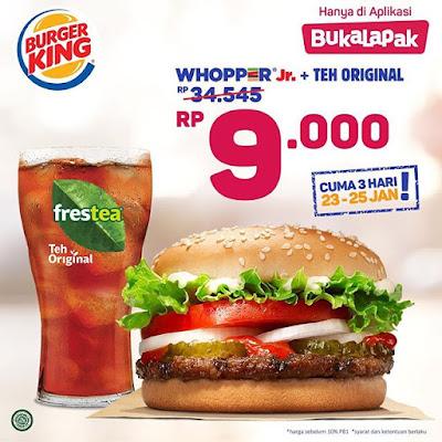 #BurgerKing - #Promo Voucher Whopper Jr Cuma 9Ribu di Bukalapak (HARI TERAKHIR)