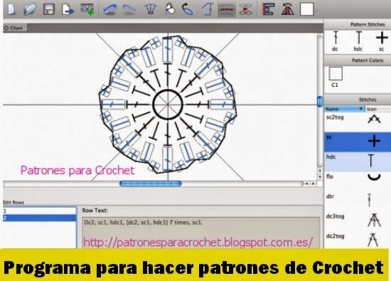 Software para Patrones Ganchillo o Crochet. Demo Gratis