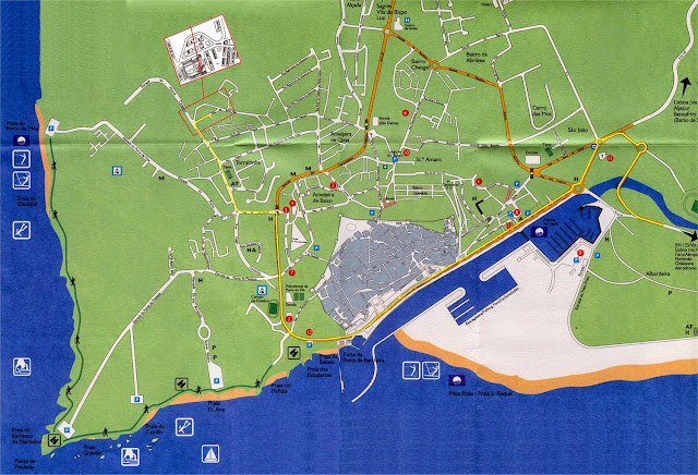 Mapa de Lagos - Portugal
