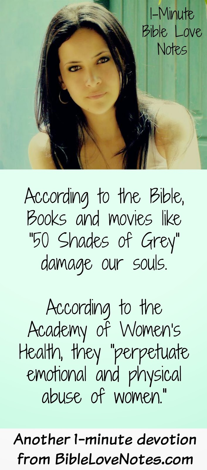 Dirty books, Psalm 101:3, 50 Shades of Grey
