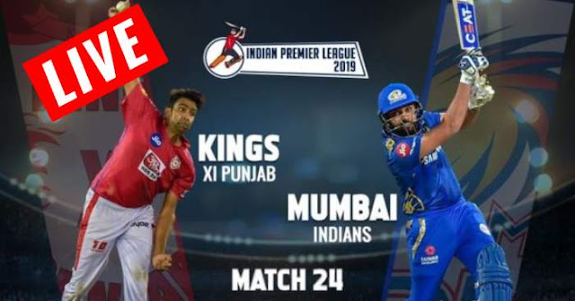 VIVO IPL 2019 Match 24 MI vs KXIP Live Score and Full Scorecard