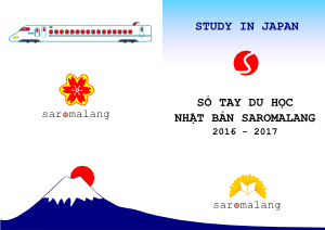 sổ tay du học nhật bản 2016-2017 saromalang