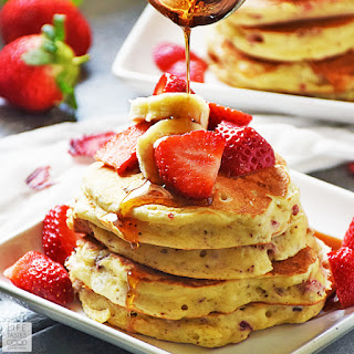Strawberry Pancakes Recipe | by Life Tastes Good