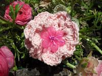 broche fleur en crochet