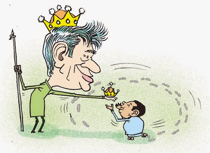 Afbeeldingsresultaat voor ranil and sajith cartoon