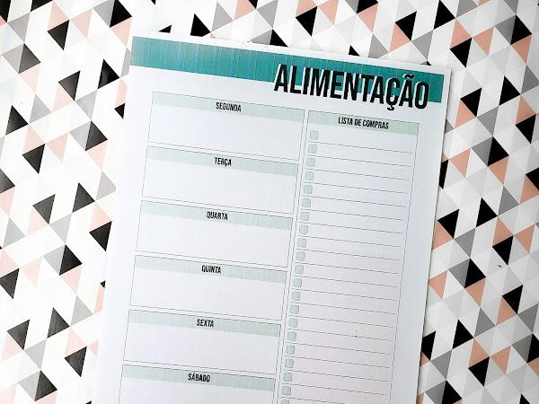 Planner 2019 #15: alimentação da semana (meal plan)