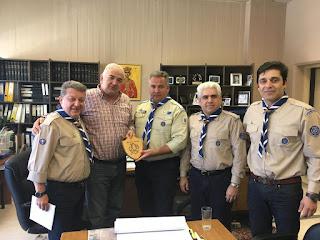Ένωση Παλαιών Προσκόπων Πιερίας - Επίσκεψη στο Δήμαρχο της Κατερίνης
