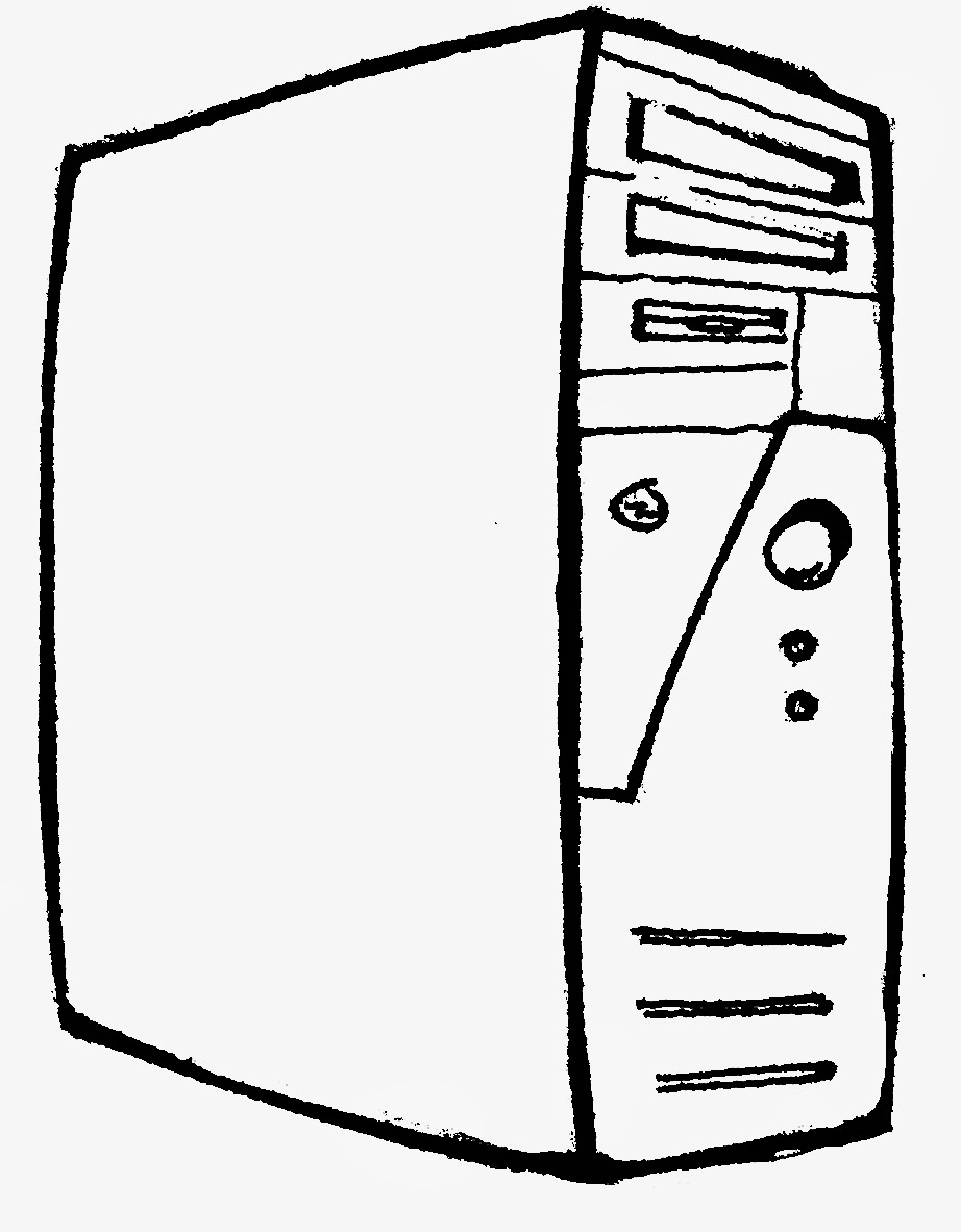 Computer parts coloring page