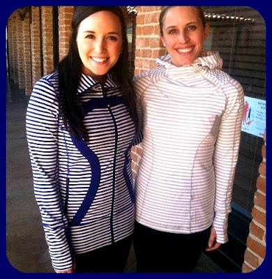 lululemon back on track pullover silver spoon stripe
