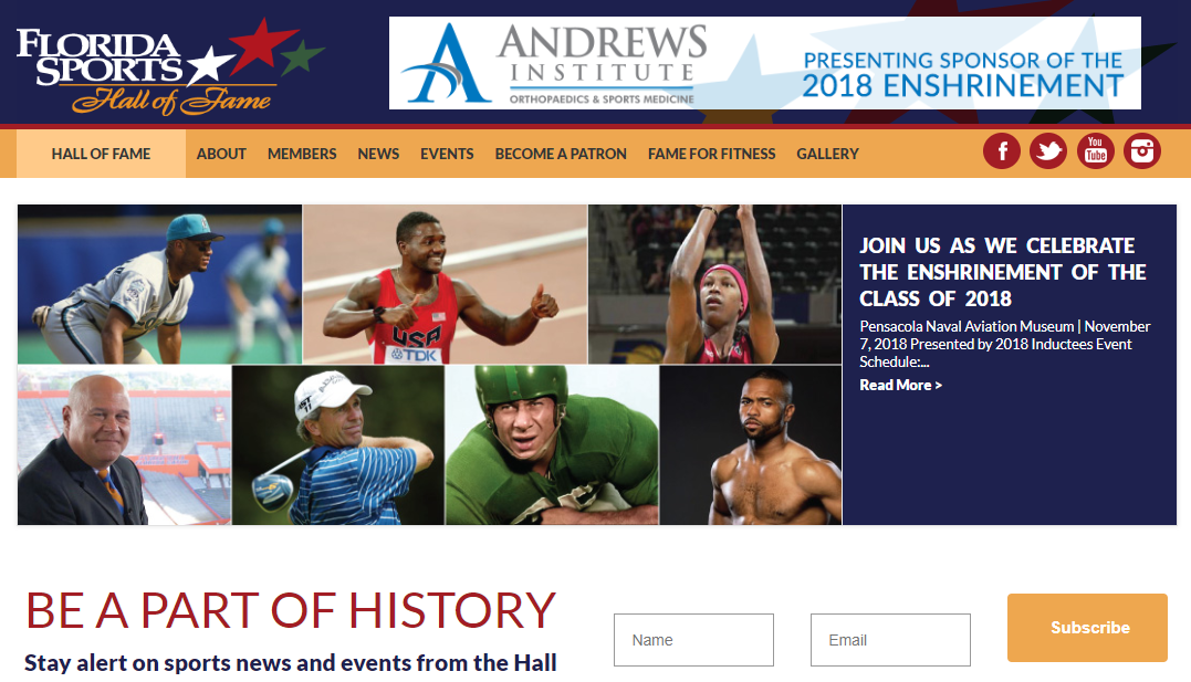 Florida Sports Hall of Fame Website