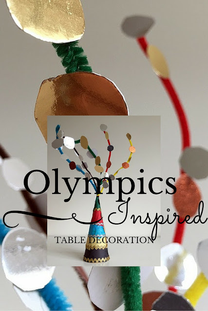 Olympics Inspired Table Decoration