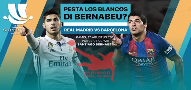 Prediksi Taruhan Bola 365 - Real Madrid vs Barcelona 17 Agustus 2017