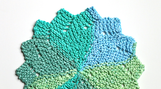 Knit Almost Lost Cotton Dishcloth or Washcloth