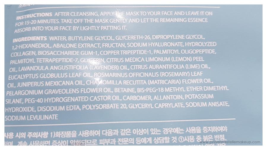 Cosmesi coreana maschera in tessuto