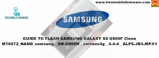 How To Flash Samsung Galaxy S5 Clone MT6572 Nand