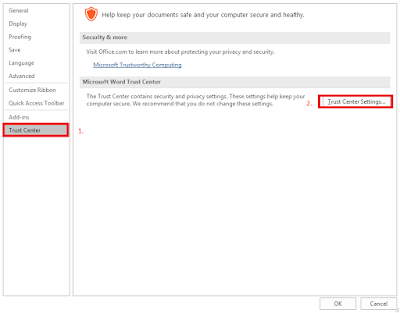 How to Enable/Disable Protected View in Office 2016??