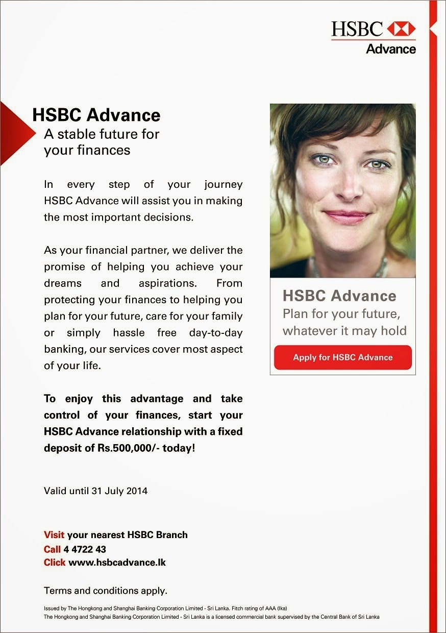 Colombo Things to Do: Plan for your future with HSBC Advance!