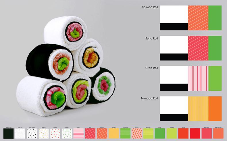 Toalla de baño Sushi de Jenny Pokrivalo